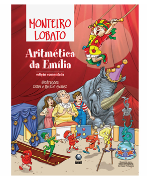 Verso do livro aritmetica da boneca emilia - sitio do pica pau amarelo