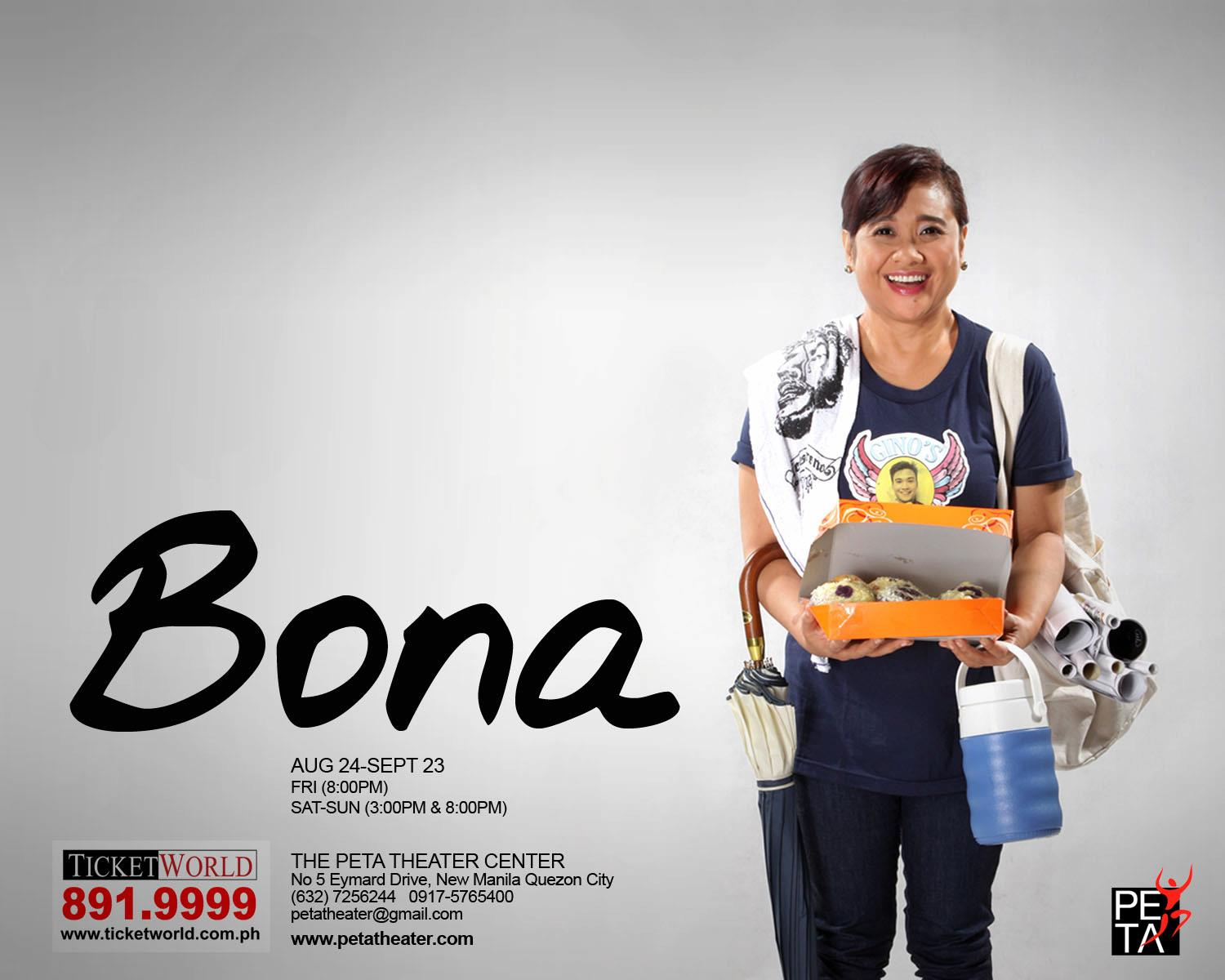 BONA: Lino Brocka's Film Gets Stage Adaptation, 8/24-9/23