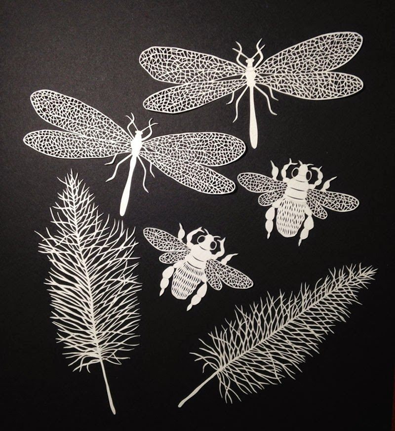 ilustraciones de papel de Maude White