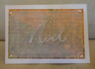 Groovi Christmas card, Noel, in orange