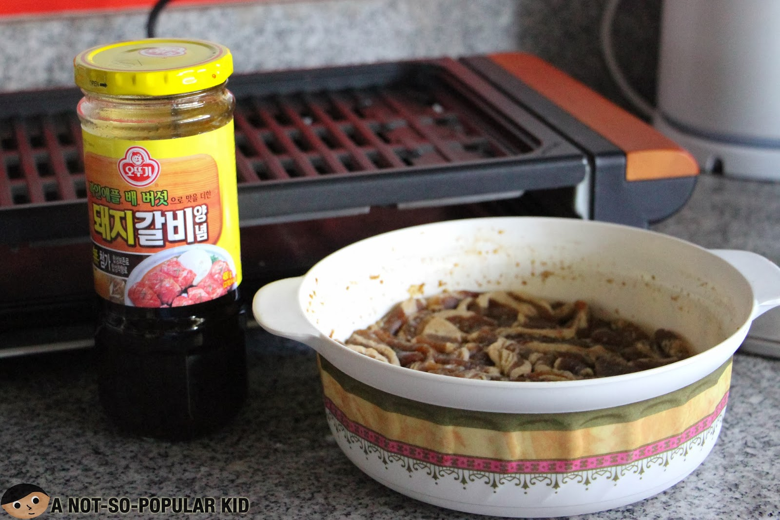 Marinated pork belly for the Home-Cooked Samgyeopsal