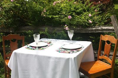 reversible floral tropical place mats