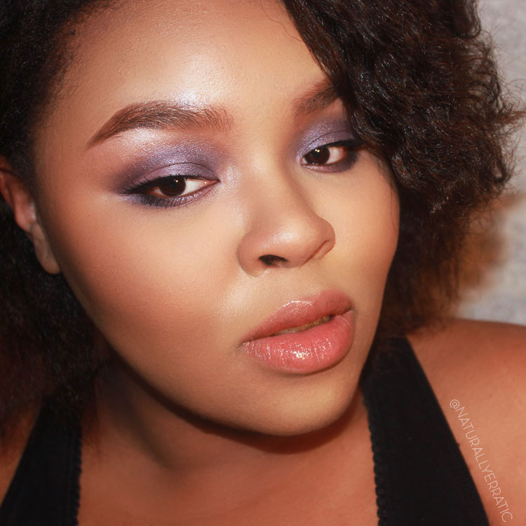 Makeup, Smokey Eye, WOC Makeup, Purple Makeup,Nude Lips,