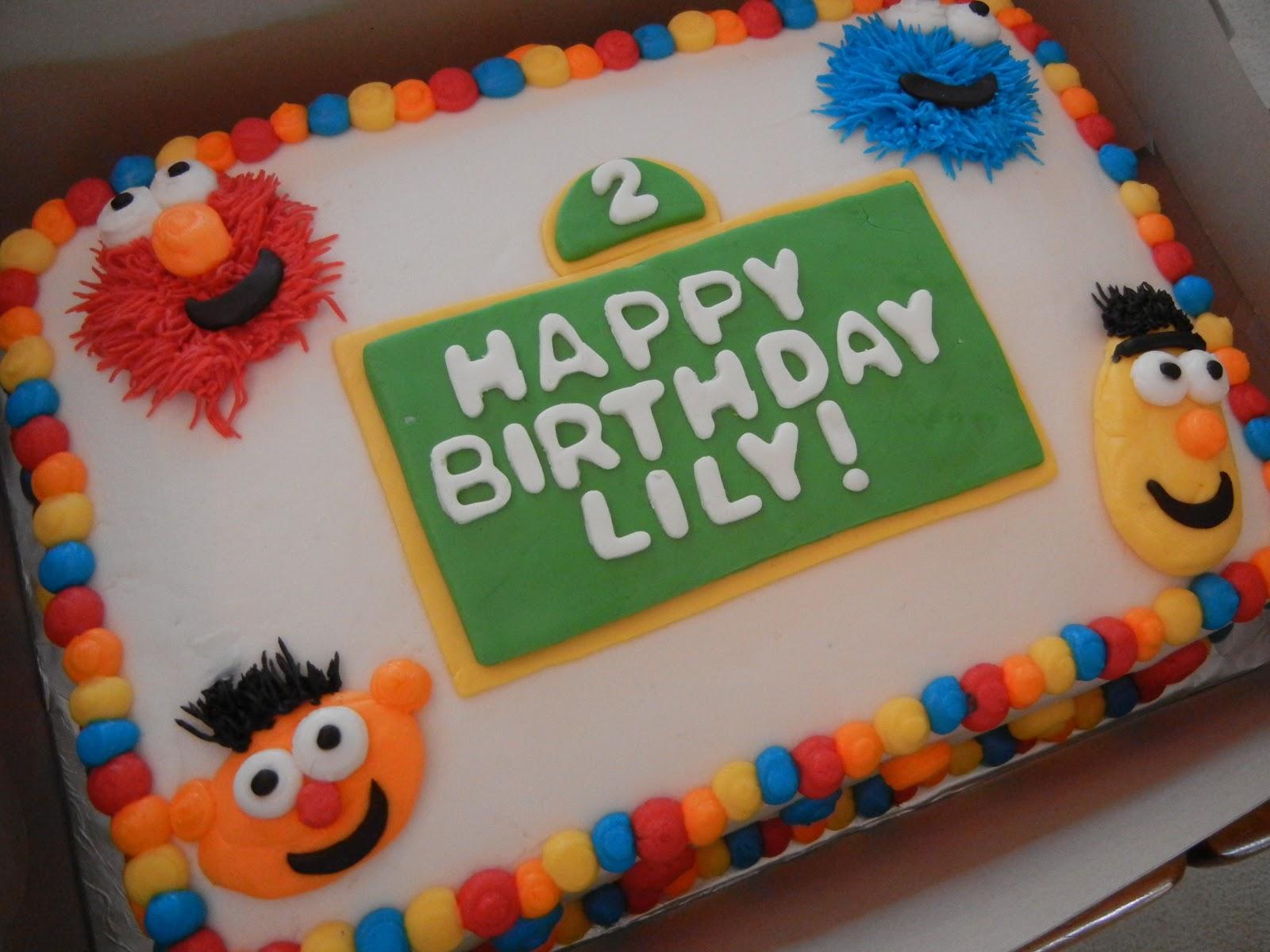 Sesame Street Baby Shower Sheet Cake