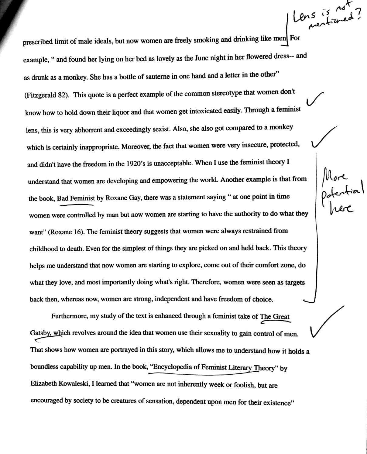 sample literature research paper