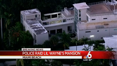 police raid lil wayne mansion