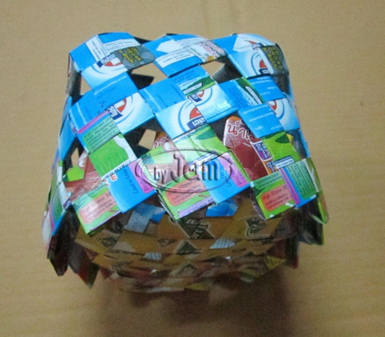 ไอเดียของใช้แล้ว,กล่องใส่ทิชชู จากกล่องนม,กล่องทิชชู  กล่องนม