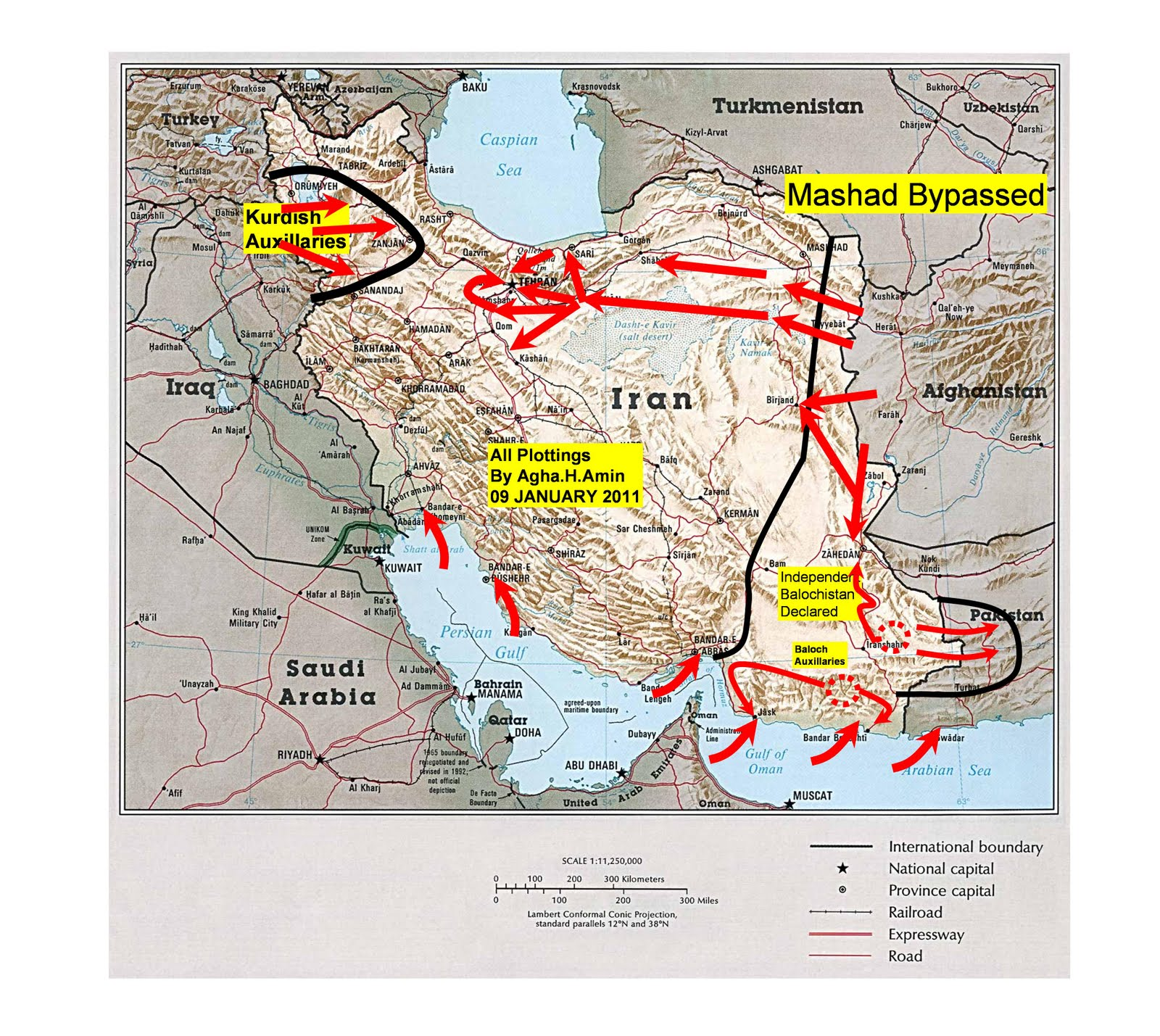 a us attack on iran agha h amin january 2012