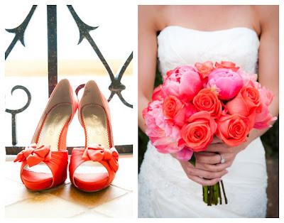 red and white beach wedding 03