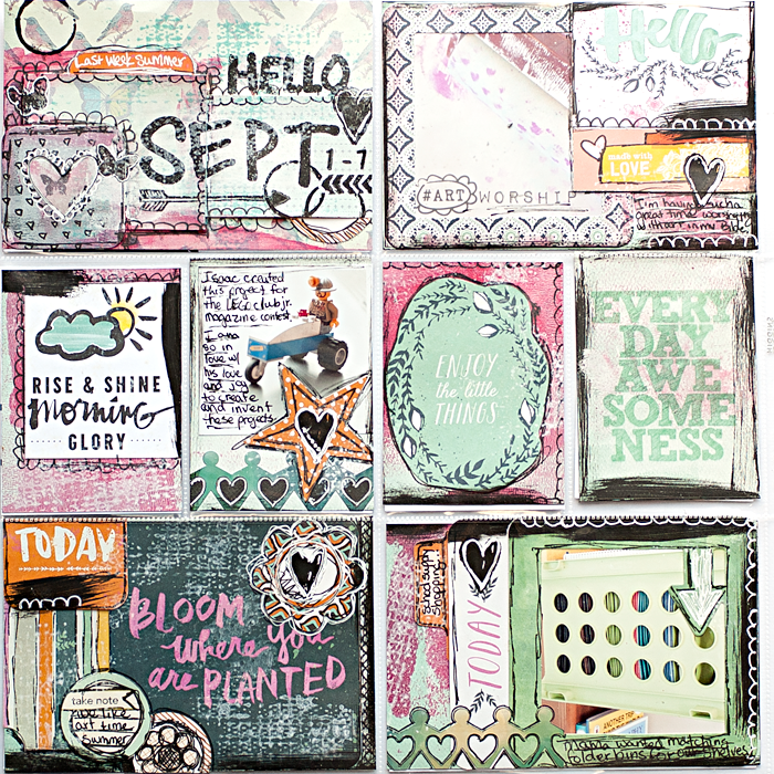 Heather Greenwood Designs | Week 36 2014 weekly pocket scrapbook project | #mixedmedia #pocketscrapbooking #doodles