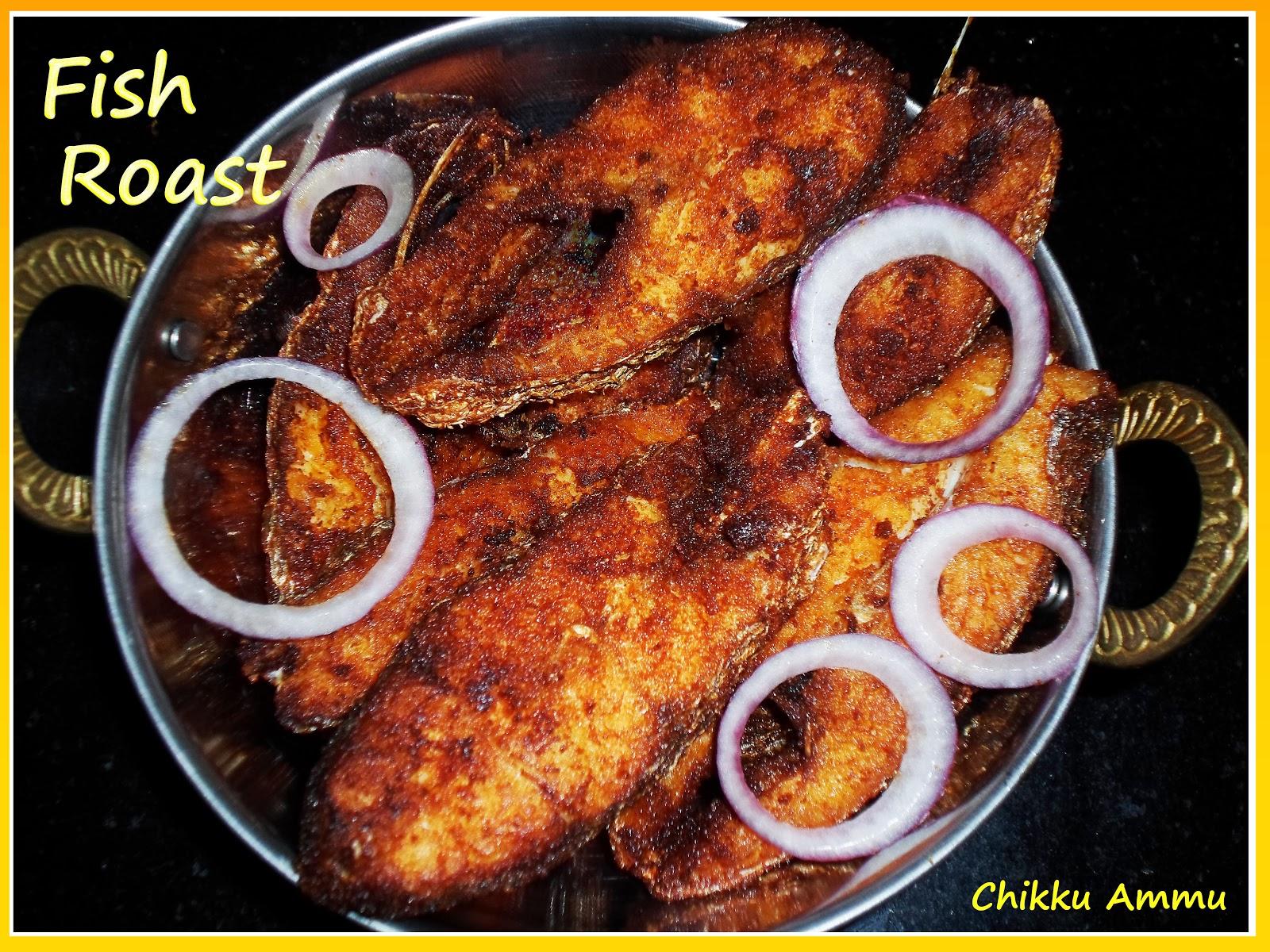 Chikkus kitchen fish roast recipe fish fry recipe for Fish fry ingredients