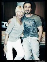 Tarkan and Ajda Pekkan in studio in 2011