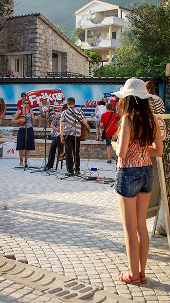 Выступление музыкантов, Петровац