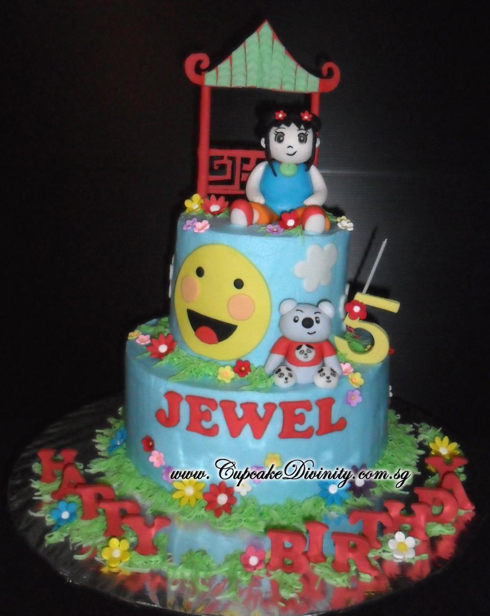Cupcake Divinity Mini 2 Tier 3d Handmold Ni Hao Kai Lan Jewel