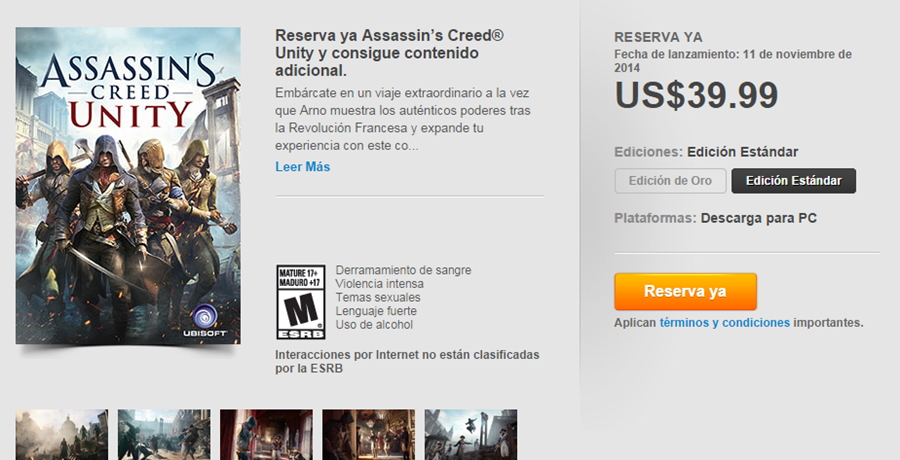 Assassin's Creed- Unity(Mexico)