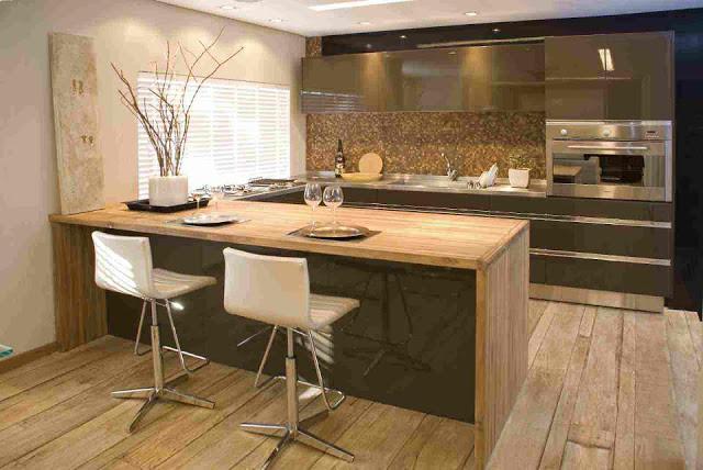 Construindo minha casa clean cozinha em laca ou mdf - Bancadas de cocina ...
