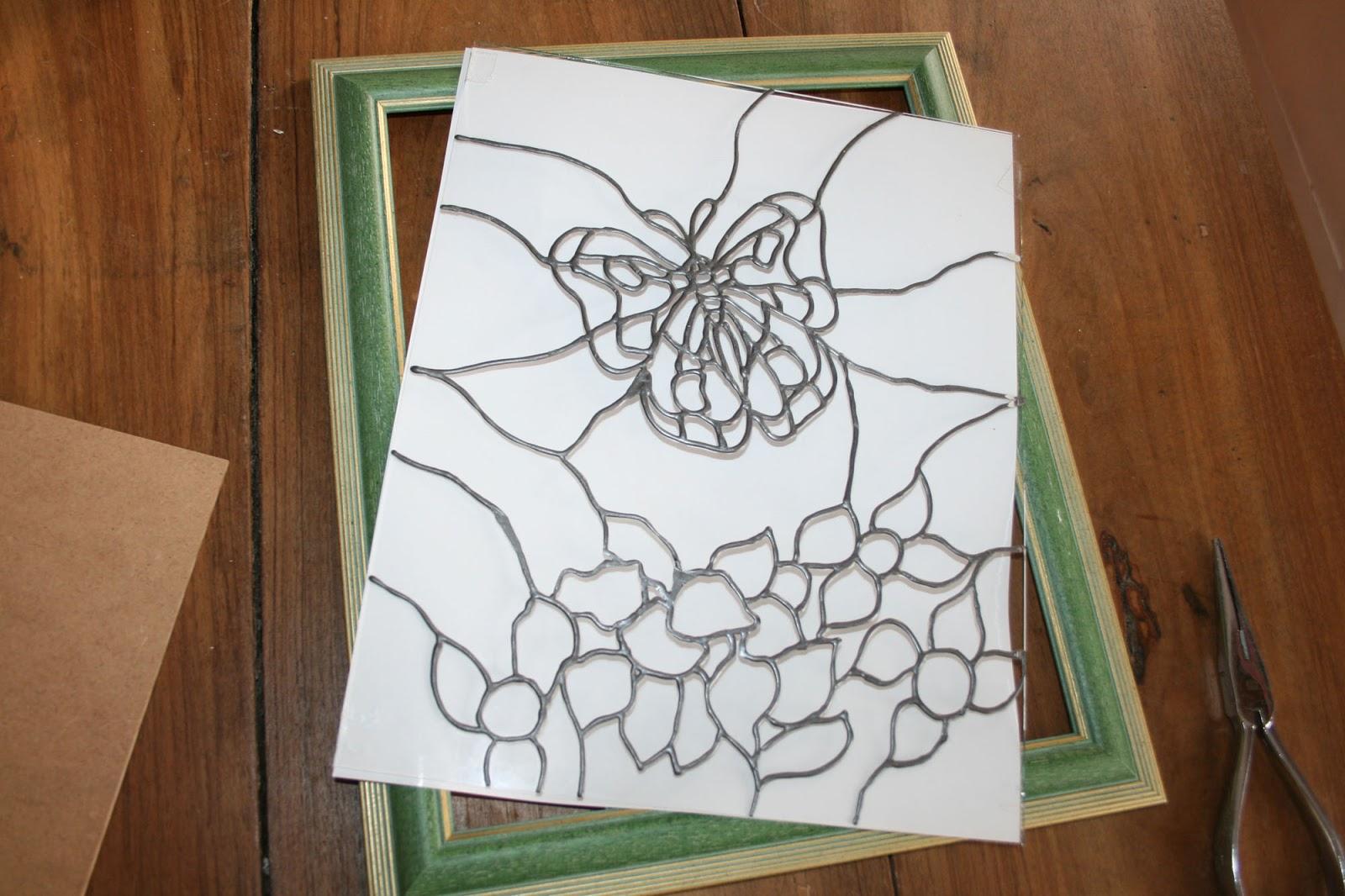 Fatto da me tutorial quadro con farfalla dipinto su for Disegni su vetro