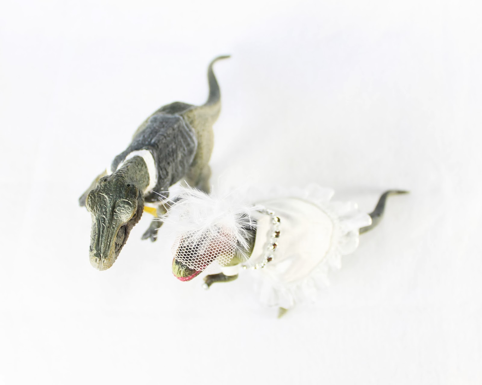 The ragged wren dinosaur wedding toppers they came out soooo cute that i thought i would re list it in case anyone else might want a quirky wedding topperturns out they did ive sold over 20 nvjuhfo Image collections