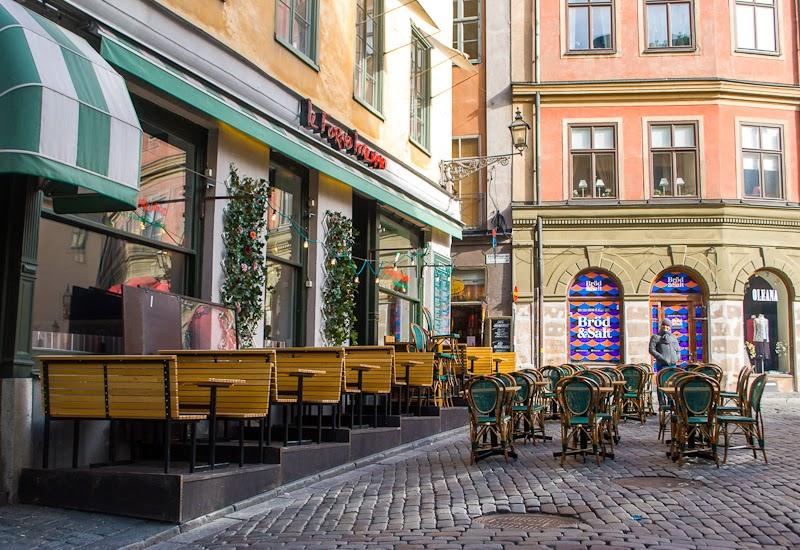 vintage cafe set up stockholm sweden gamla stan