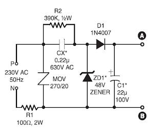 220 volt AC ultra bright leds lamp circuit | Kompas Jaguar