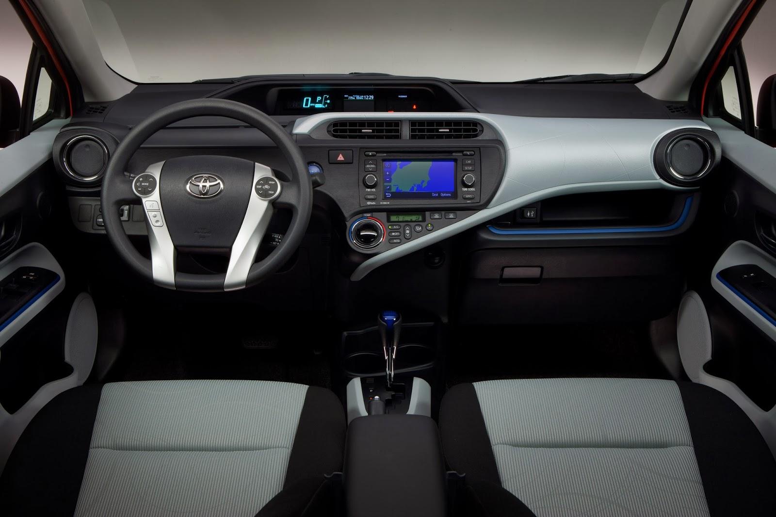 Interior of Toyota Prius C