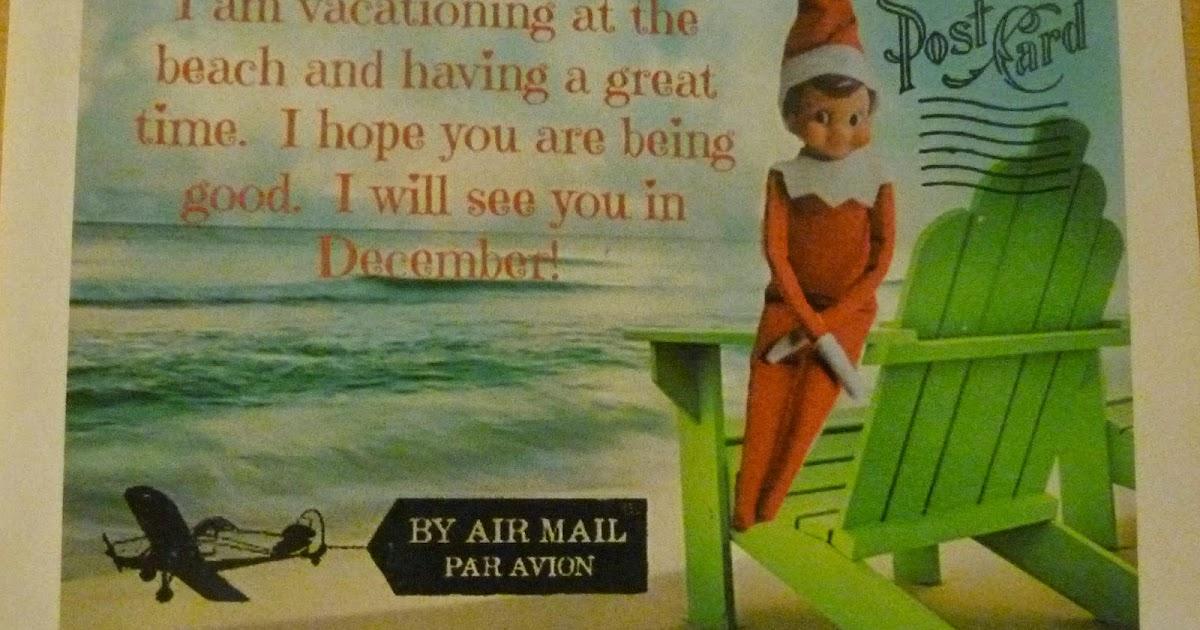 Dabblingmomma Elf On The Shelf Summer Message