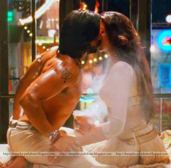 Sexy Lip Lock Stills Of Dipika And Ranveer Singh