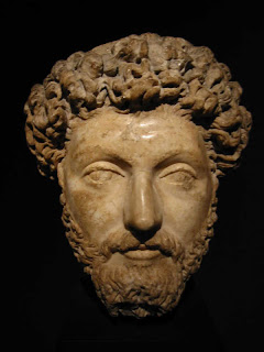 sculpture of Marcus Aurelius's head