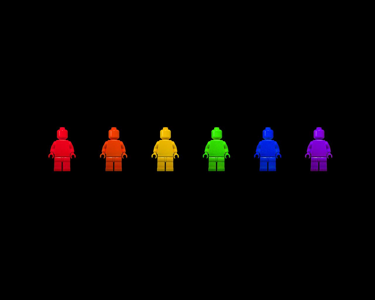 wallpaper rainbow lego man creative lego