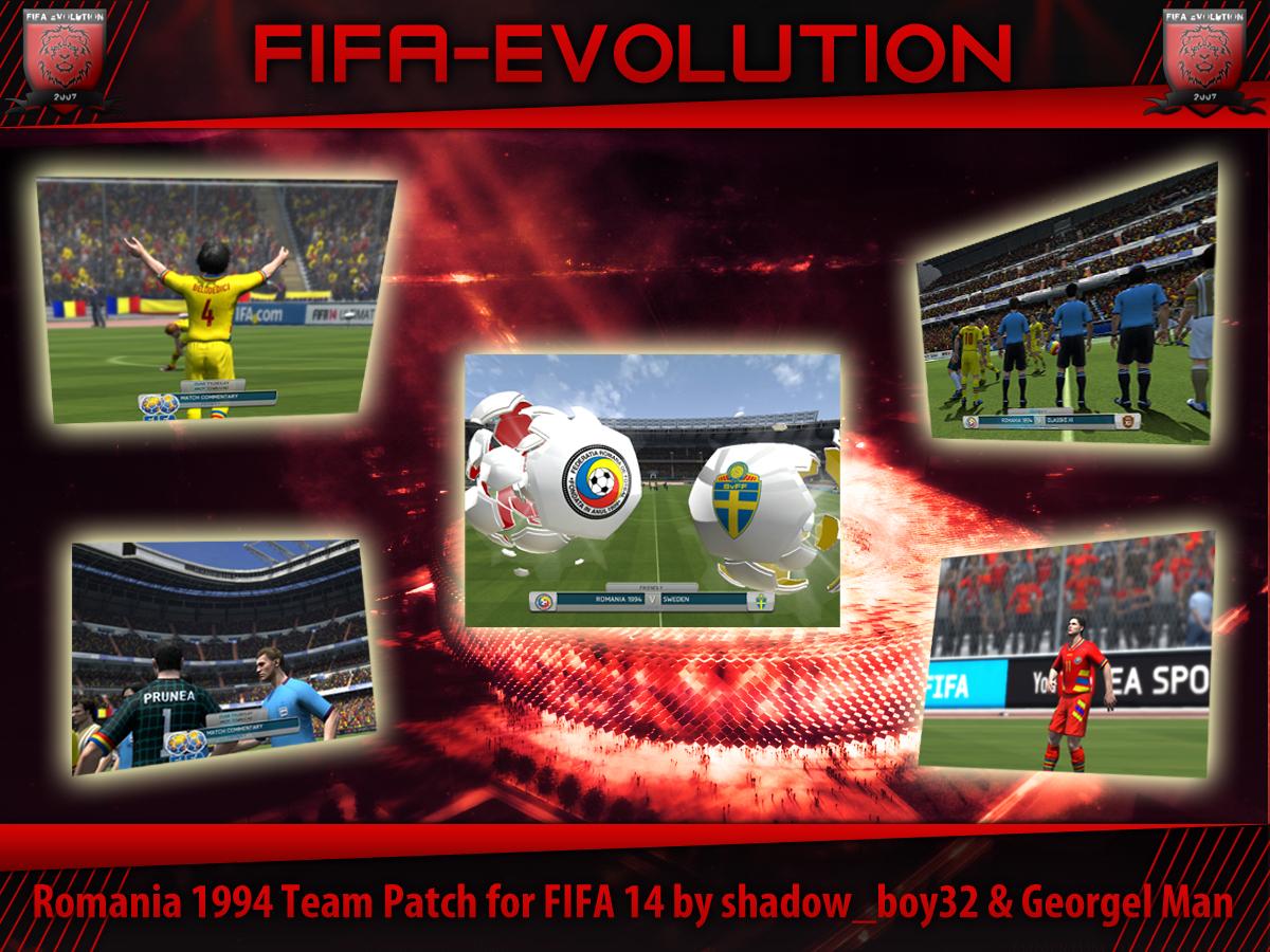Скачать ROMANIA 1994 TEAM PATCH FOR FIFA 14 BY SHADOW_BOY32 & GEORGEL M