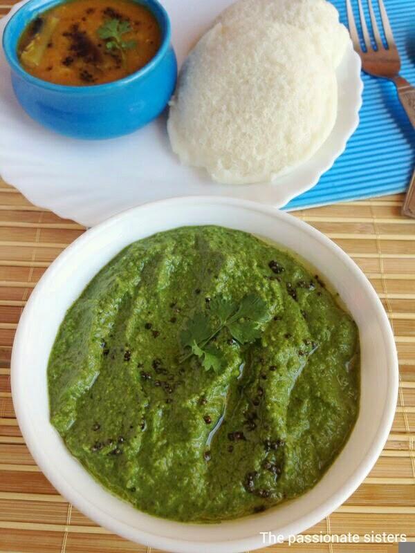 coriander chutney, green chutney