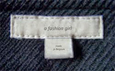 About a fashion girl