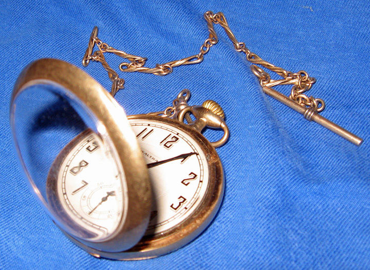 Charles Huntington Burdick's Railroad Pocket Watch given to him January 1924 upon his retirement.