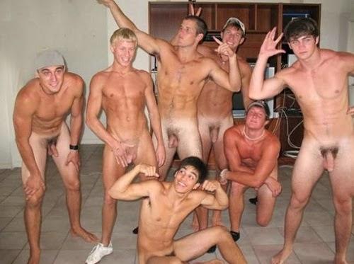 Hombres Desnudos Vestidores Sin Ropa Interior Encuerados Grupo Futbol