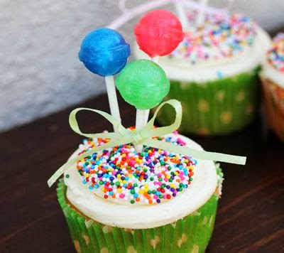 Balloon Cake decorating ideas: Cupcakes.
