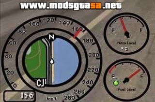 SA - Mod Velocímetro + Marcador de Nitro e Gasolina v2