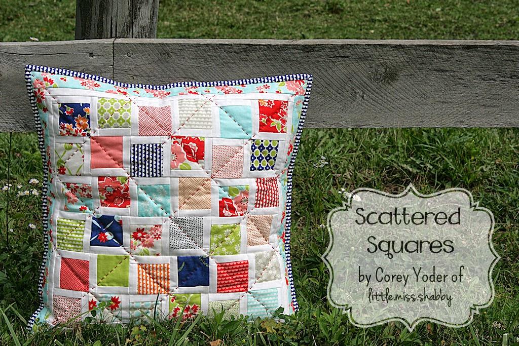 Moda  squares runner   Bake Pillow using Scattered  Shop Bloglovin table  Squares charm
