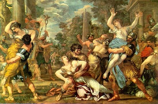 Cortona, enlèvement des sabines
