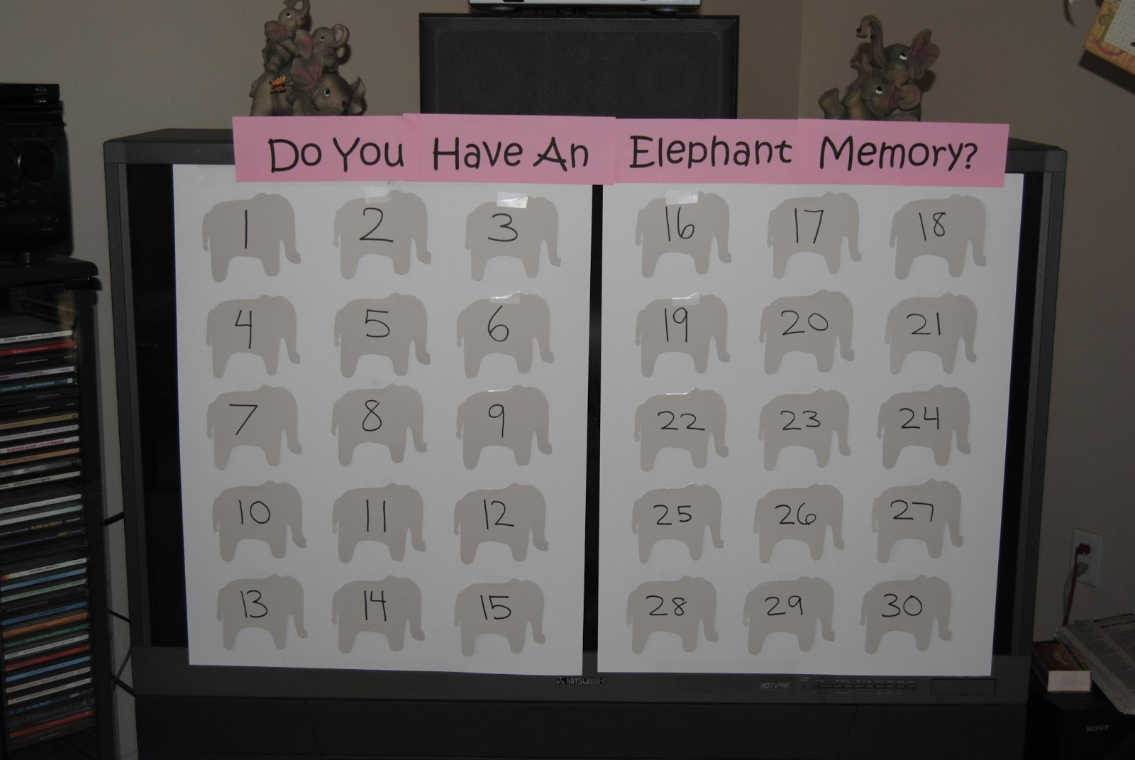 Do You Have An Elephant Memory? Baby Shower Game
