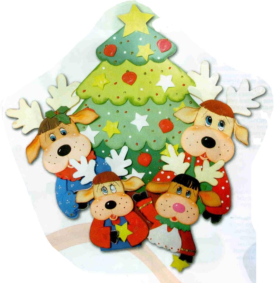 Enfeite De Natal ~ E V A Moldes e Idéias ENFEITE DE PORTA DE NATAL EM EVA