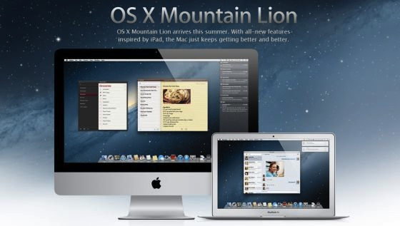 os+x+mountain+lion OS X Mountain Lion un paso más en la integración con iOS