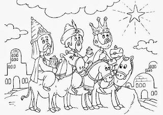 Dibujos de los Tres Reyes Magos para imprimir  Dibujos para Nios