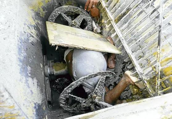 Sadis, Maut Dalam Mesin Pembancuh Simen