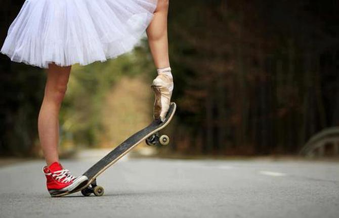 Andar de skate é coisa de menino ?