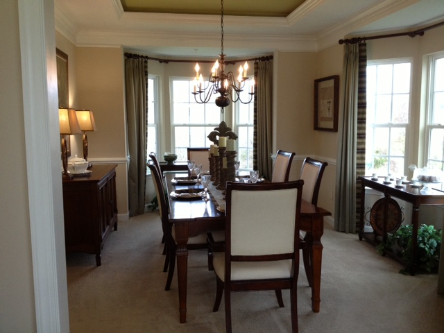 Building our dream victoria falls by ryan homes for Model home dining room