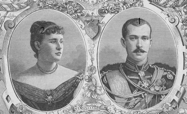 Grand-duc Paul de Russie et princesse Alexandra de Grèce