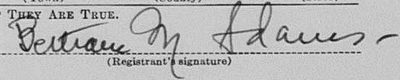 Bill Adams' signature