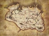 Kart over Skyrim