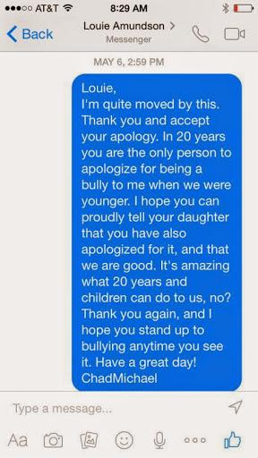 High school bully apologizes