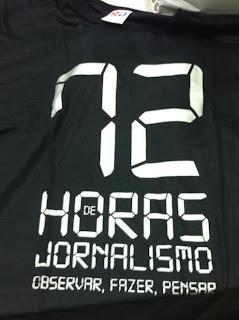 Camiseta 3ª edição do 72 Horas de Jornalismo